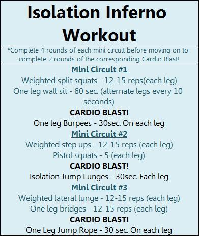 Inferno Isolation Leg Workout