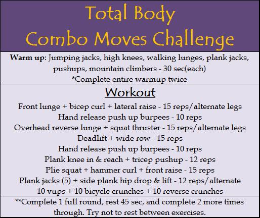 Total Body Combo Moves Challenge
