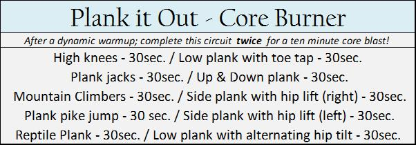 Plank it Out - Core Burner