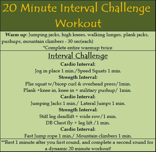20 Minute Interval Challenge